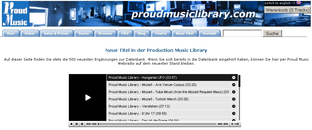 Neue Titel in der Proud Music Library